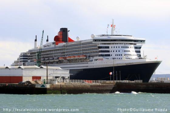 Le Havre Terminal croisière - Queen Mary 2 - 13 octobre 2012