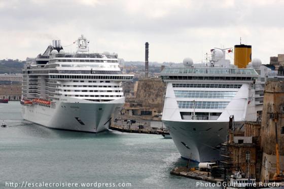 MSC Fantasia & Costa Victoria La Valette - Malte