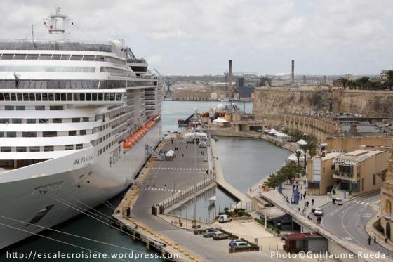 MSC Fantasia à quai - La Valette - Malte