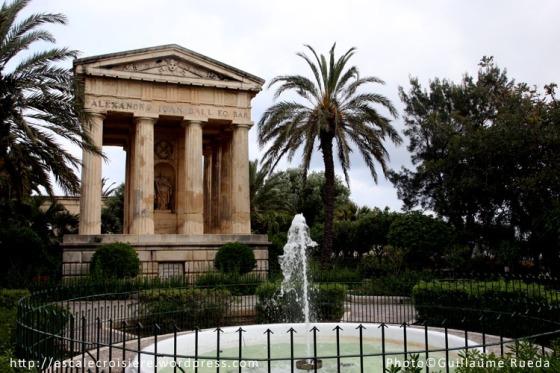Upper Barrakka gardens La Valette - Malte