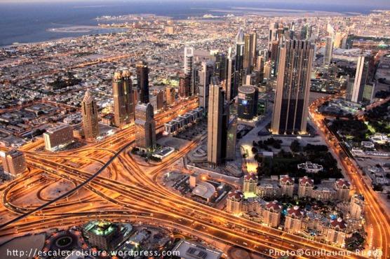 Sheik Zayed road depuis la Burj Khalifa