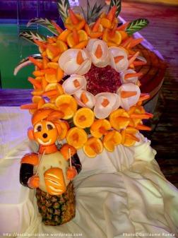 Sculpture sur fruits Costa Victoria