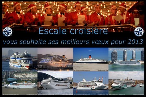 Escale croisière vous souhaite ses meilleurs vœux pour 2013