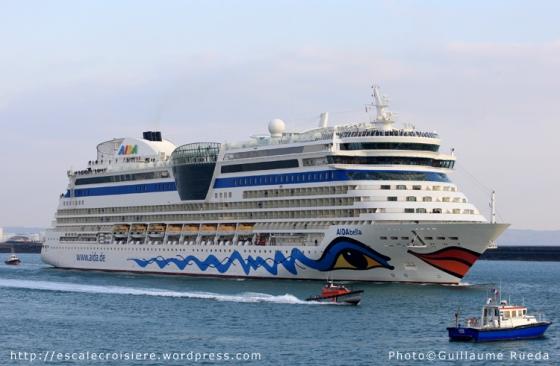 AIDAbella - Le Havre - Escale du 31-03-2013