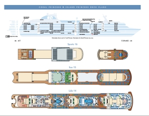 Brochure et plan des ponts Island Princess