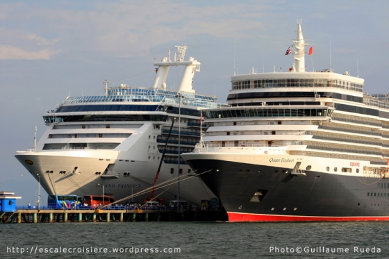 Island Princess et Queen Elizabeth