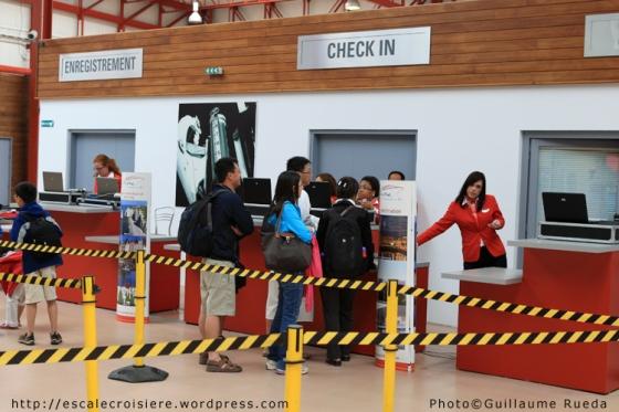 Le Havre - Enregistrement passagers
