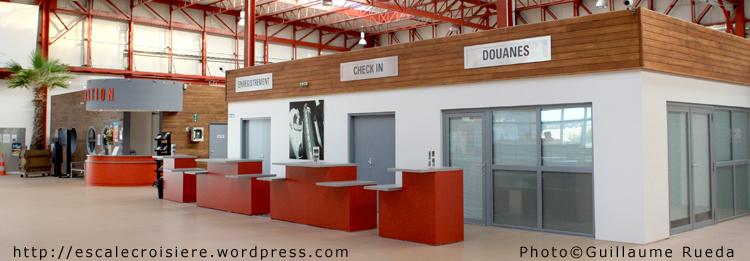 Le Havre - Terminal Croisière - Comptoirs d'enregistrement