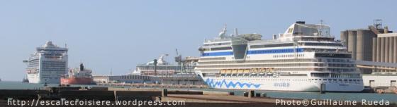 Le Havre - Triple escale - AIDAluna et Crown Princess