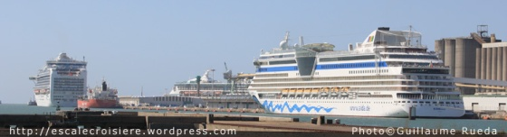 Le Havre - Triple escale - AIDAluna et Crown Princess