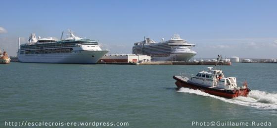 Le Havre - Triple escale - Vision of the Seas et Crown Princess