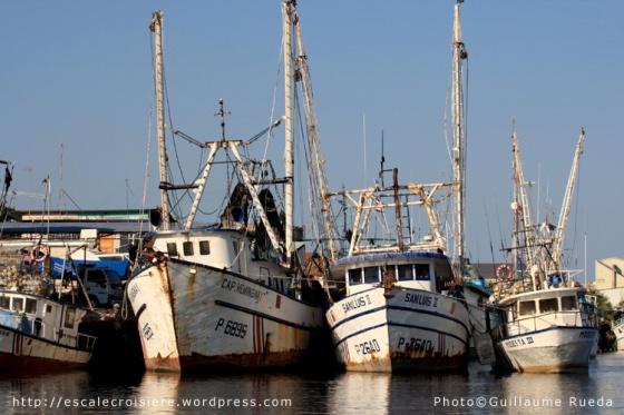 Puntarenas - bateaux de pêche