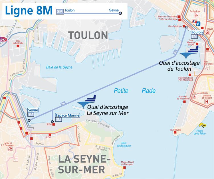 Toulon - La Seyne sur Mer - Accès croisière