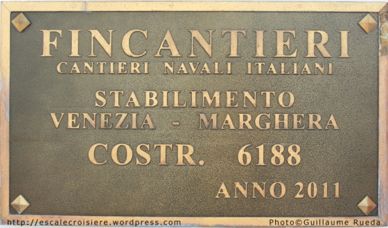 Plaque de chantier - Costa Favolosa
