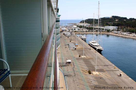 Liberty of the Seas - vue depuis une cabine avec balcon
