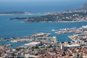 Rade de Toulon depuis le Mont Faron