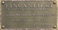 Royal Princess - Plaque de chantier