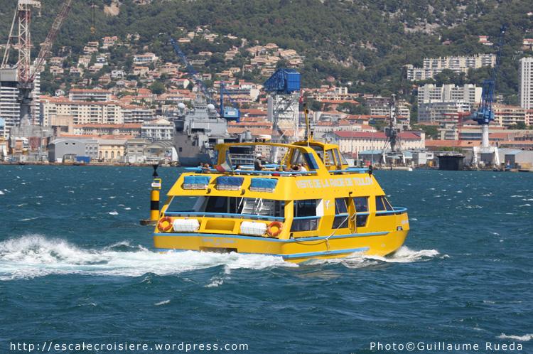 Visite de la rade de Toulon en bateaau