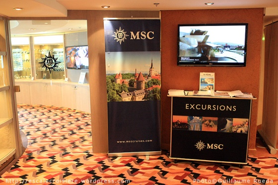 MSC Opera - Bureau des excursions