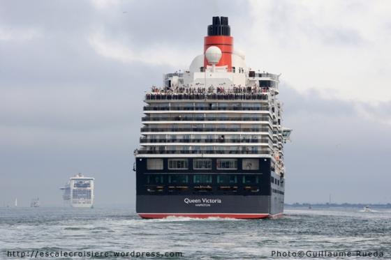 Queen Victoria - Caribbean Princess - Southampton
