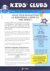 MSC Croisières - Kids Clubs