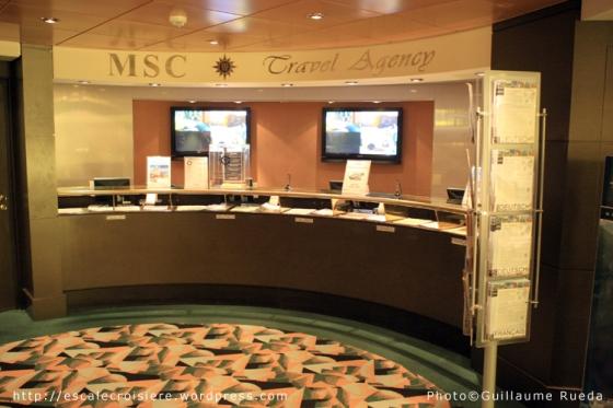 MSC Musica - Bureau des excursions