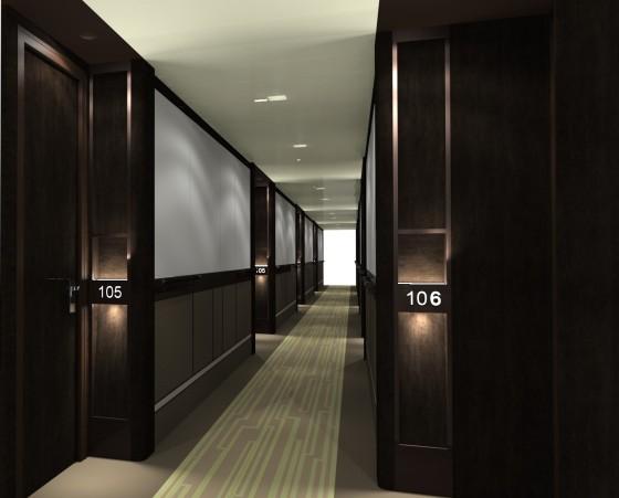 Britannia - Couloir cabines passagers