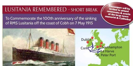 175 ans Cunard - Lusitania