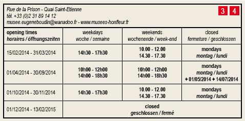 Honfleur - Horaires - Musées du vieux Honfleur