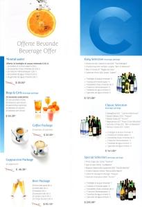 Costa Croisière - Offre boissons -1