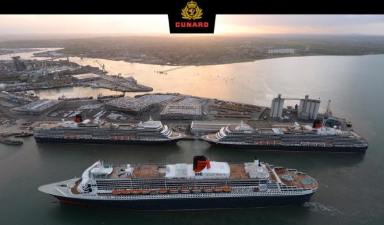 3 Queens - Queen Elizabeth - Queen Mary 2 - Queen Victoria