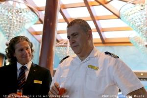 Max Bertolotto - Directeur de Croisière et Nicolo Alba - Commandant du Costa Luminosa