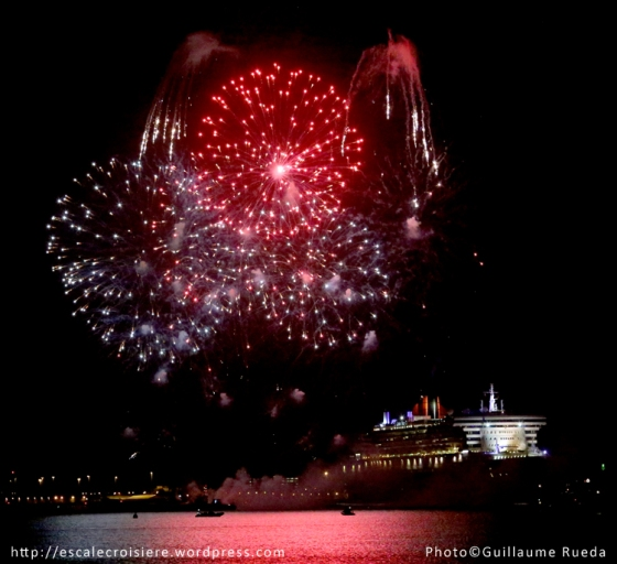 Queen Mary 2 - Feu d'artifice