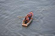 Canal de Panama - écluse de Miraflores - barque