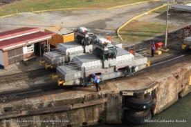 Canal de Panama - Mules Ecluses de Gatun