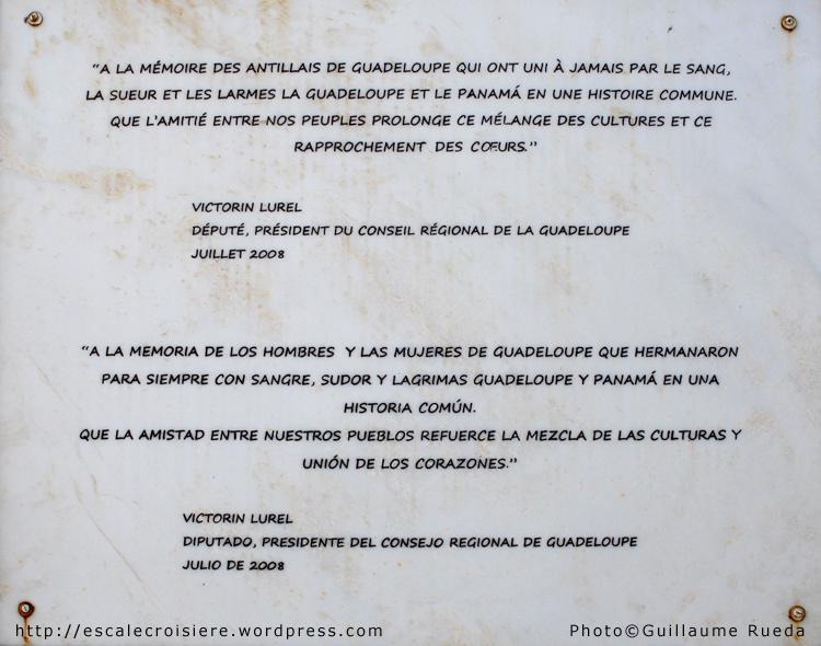 Canal de Panama - Miraflores Visitor Center - Hommage aux Guadloupéens