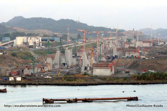 Canal de Panama - nouvelles écluses à proximité de Miraflores