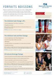 Forfaits boissons 2014 Princess Cruises