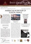 Daily Programme - Queen Elizabeth - Toulon - 22-07-2014
