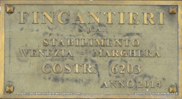 Costa Diadema - plaque de chantier