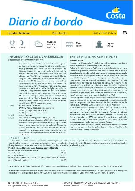 Diaro di bordo - Naples page (1)