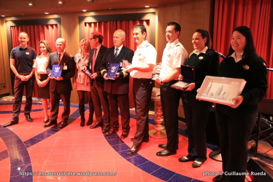 Anthem of the Seas - remise de plaques - Le Havre