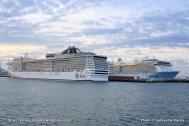 Double escale inaugurale au Havre - MSC Splendia et Anthem of the Seas
