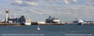 Le Havre - Triple escale - Celebrity Infinity - MSC Magnifica - Thomson Spirit