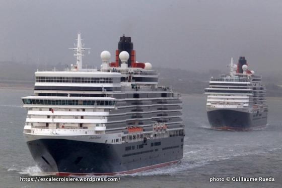 175 ans Cunard - Queen Elizabeth - Queen Victoria