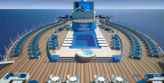 MSC Seaside - Piscine Solarium