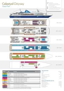 Plan des ponts du Celestyal Odyssey