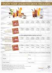 Téléchargez les tarifs des packages boissons Celestyal Cruises 2015