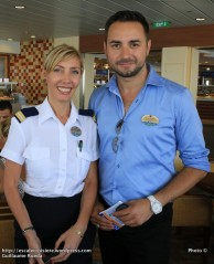 Allure of the Seas - Carmela Molino - International Ambassador et Kevin Izorce - International Group Coordinator