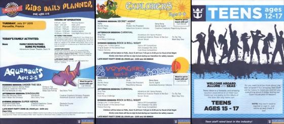 Programme enfants et ados - Allure of the Seas